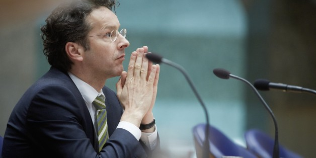 Eurogroup President Dutch Finance Minister Jeroen Dijsselbloem attends a debate on the convention of the aid to Cyprus at the Senate (Tweede Kamer) at the Binnenhof in The Hague on March 26, 2013. The Cyprus debt rescue and its 'bail-in' provision to make large bank depositors pay part of the cost is largely in line with European Commission plans to ensure taxpayers no longer carry the can when banks fail. The head of the eurozone finance ministers group, Jeroen Dijsselbloem, caused consternatio