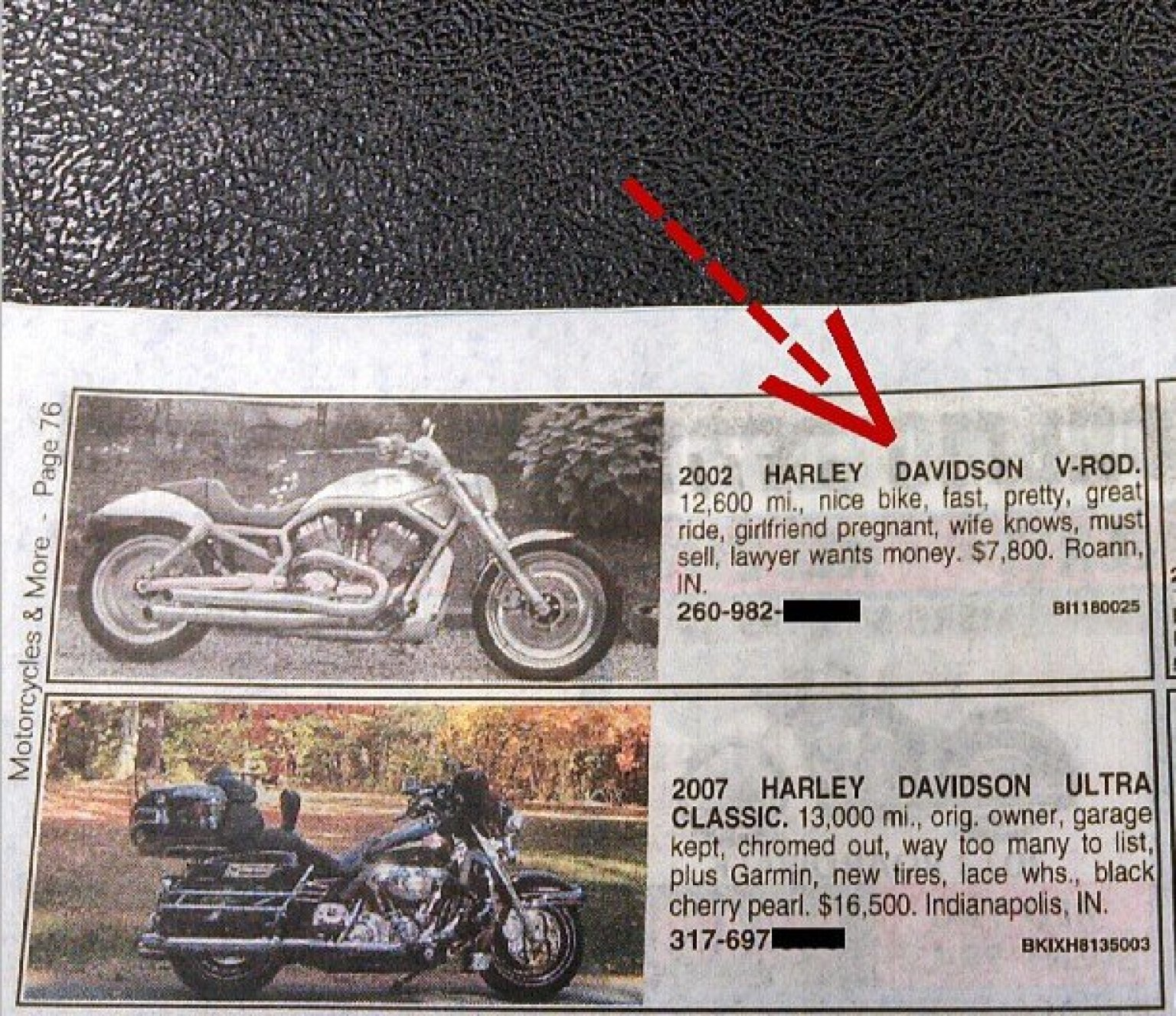 Funny divorce ad biker needs to sell his harley fast huffpost voltagebd Choice Image