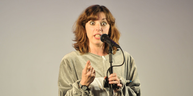 LONDON, ENGLAND - SEPTEMBER 15:  Comedian Bridget Christie performs on stage during Kings Place Festival 2012 at Kings Place on September 15, 2012 in London, United Kingdom.  (Photo by Andy Sheppard/Redferns via Getty Images)