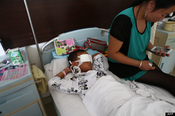 chinese boy eyes gouged out