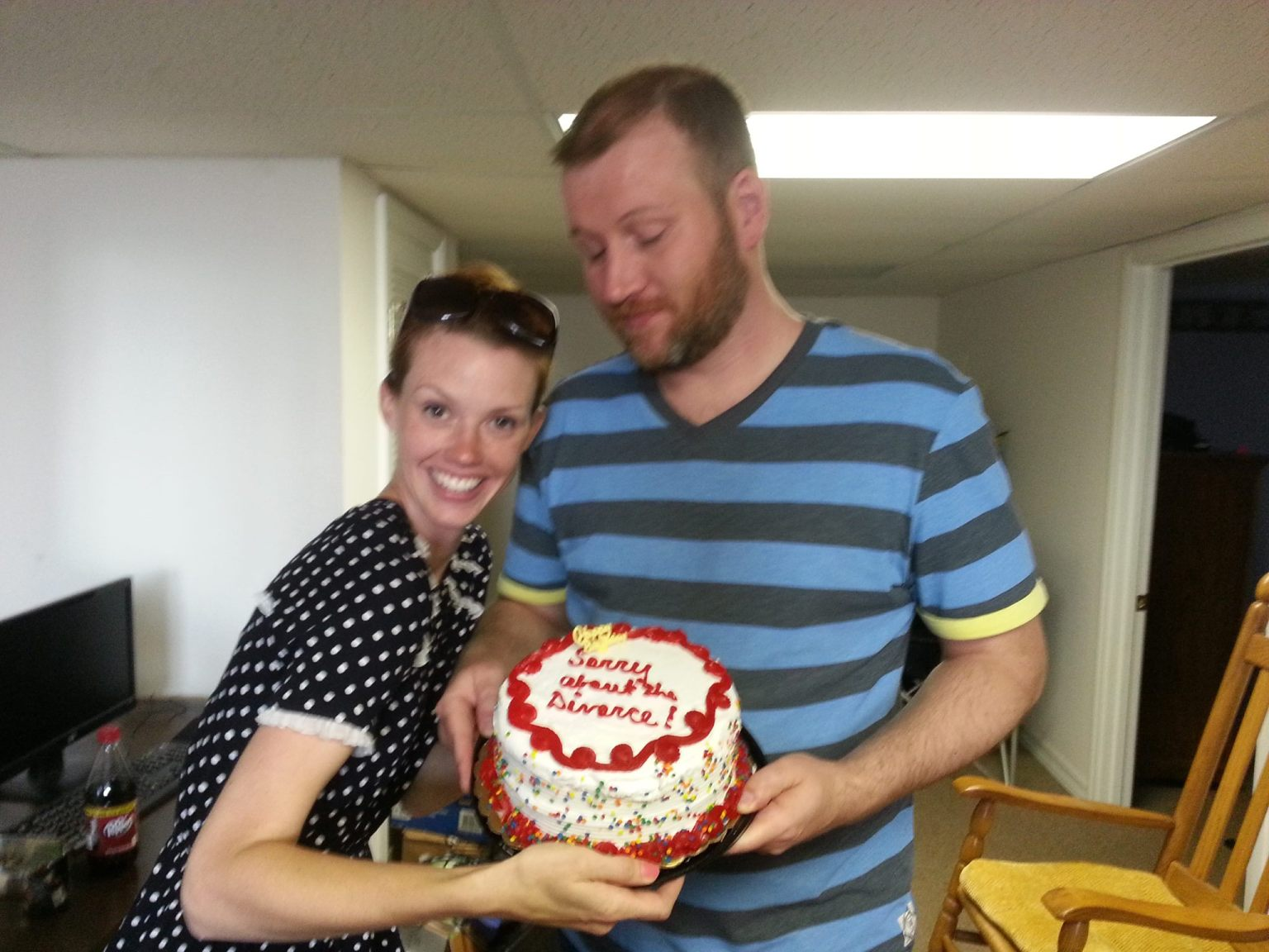 Birthday cake for husband and wife