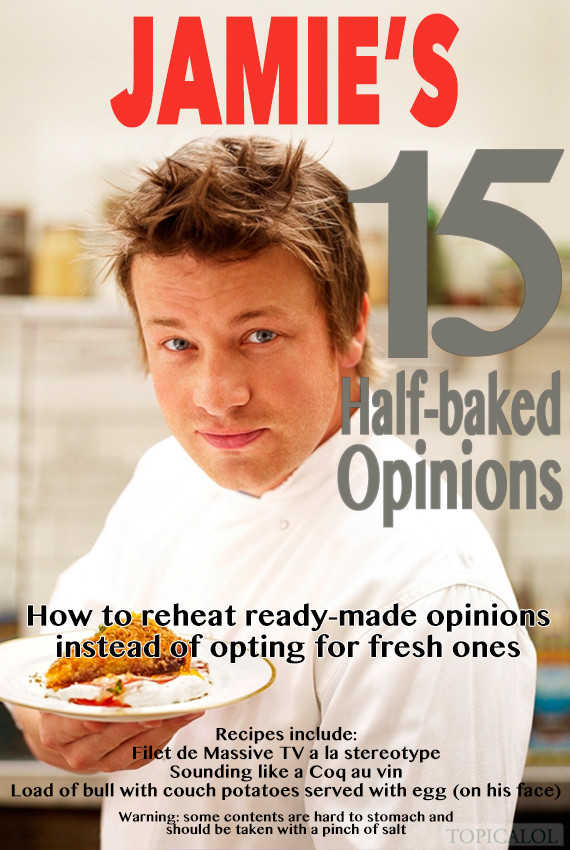 jamie oliver book spoof