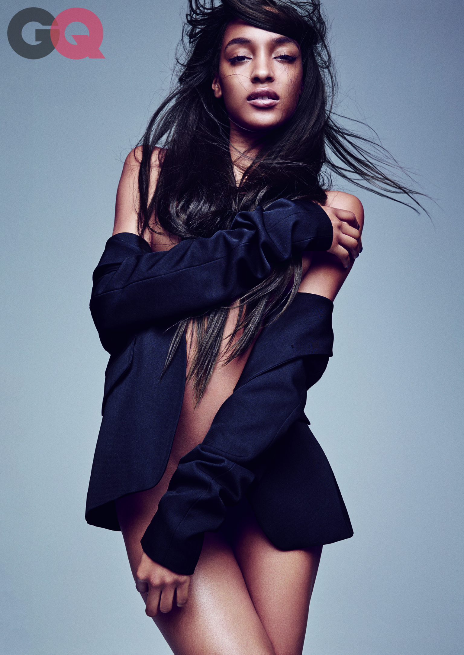 Jourdan Dunn Naked Model Bares All For Gq September Issue  She Looks Amazing, Obvi -3776