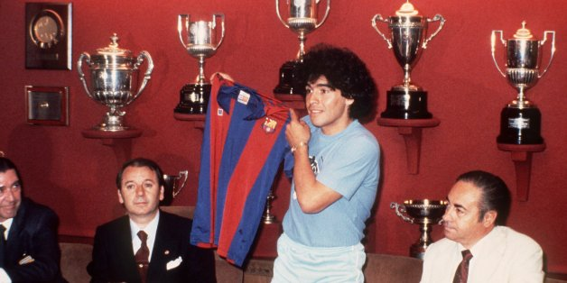 Diego Armando Maradona arrives at Barcelona in 1982