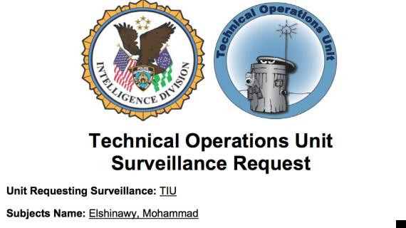 nypd surveillance unit logo
