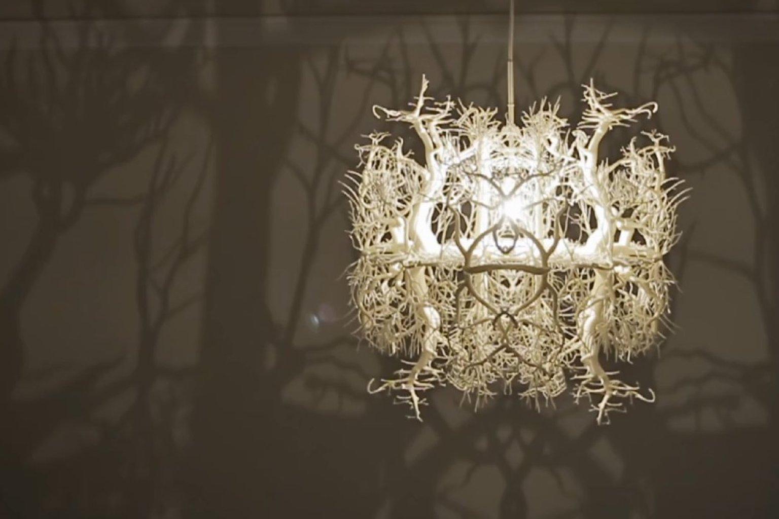Thyra hilden and pio diaz artists created the coolest chandelier thyra hilden and pio diaz artists created the coolest chandelier ever video huffpost aloadofball Gallery
