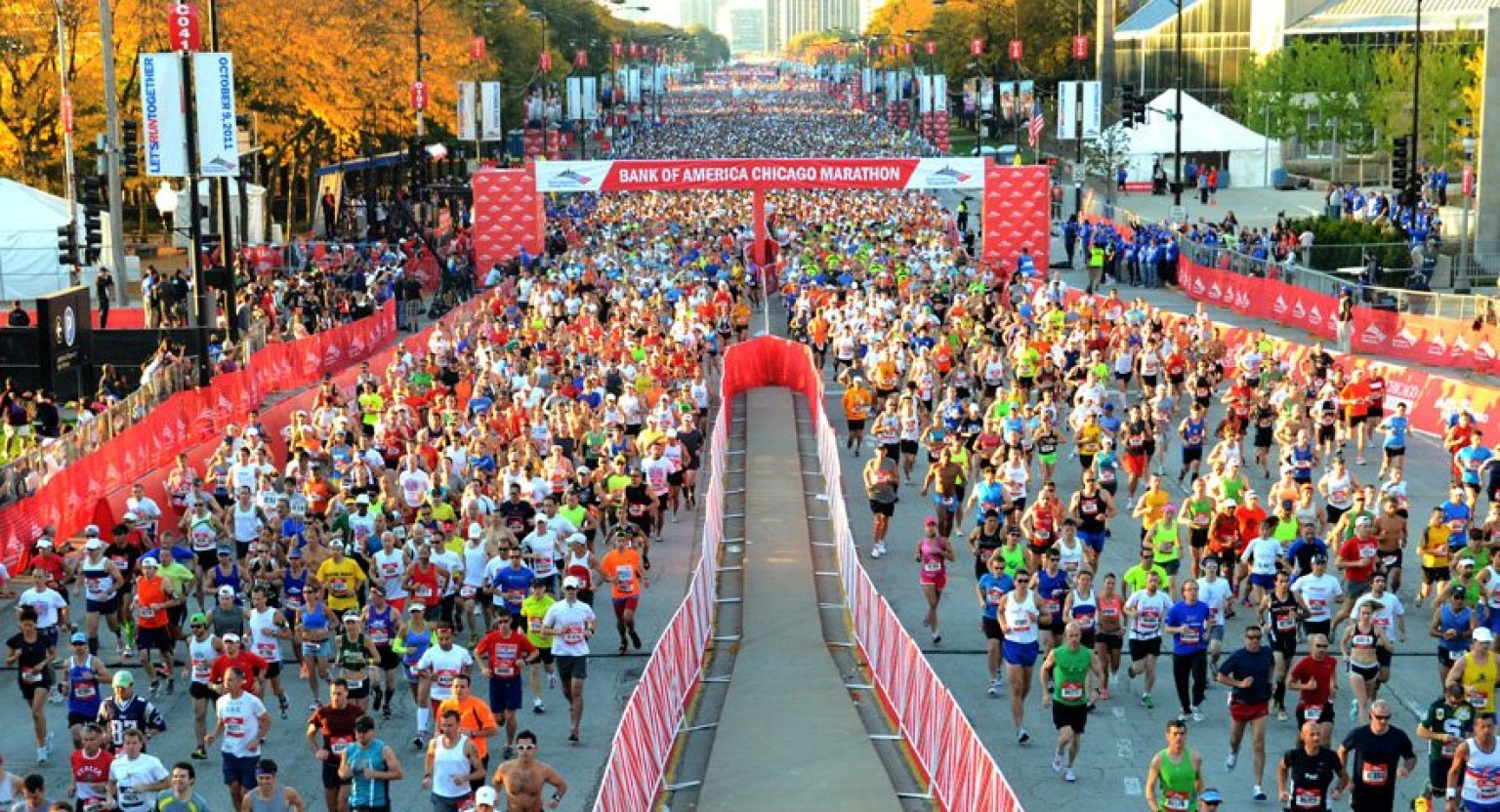 View the Chicago Marathon course elevation chart and description Create course specific Pace Bands Read marathon reviews Compare the Chicago Marathon to other