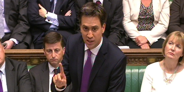 Labour party leader Ed Miliband speaks during a debate on Syria in the House of Commons, central London.