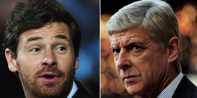 (FILE PHOTO - EDITORS NOTE: COMPOSITE OF TWO IMAGES - Image Numbers 152421664  (L) and 136293069 ) In this composite image a comparison has been made between Tottenham Hotspur Manager Andre Villas Boas (L) and Arsenal Manager Arsene Wenger. The Premier League match between Arsenal and Tottenham Hotspur takes place on September 1, 2013 at the Emirates Stadium, London, England.    *** LEFT IMAGE***  LONDON, ENGLAND - SEPTEMBER 20: Andre Villas-Boas the Spurs manager reacts to events on the pitch d