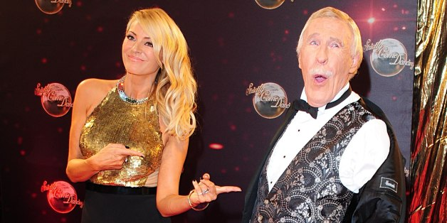 Presenters Sir Bruce Forsyth and Tess Daly arriving for the Strictly Come Dancing Photocall at Elstree Studios, London.
