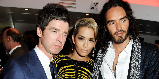 Noel Gallagher, Rita Ora and Russell Brand arrive at the GQ Men of the Year awards