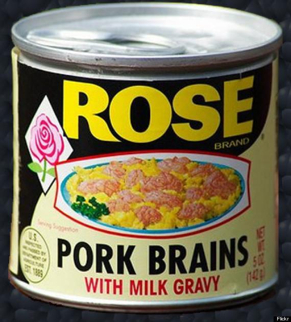 pig brains