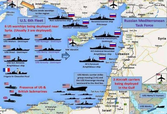 mappa forze navali