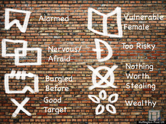 burglars signs on houses mark out possible targets in salford