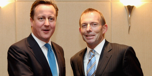 David Cameron has congratulatedTony Abbott on his election win