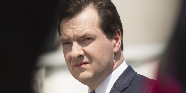 George Osborne, U.K. chancellor of the exchequer, pauses as he tours the construction site of the Francis Crick Institute's new building in London, U.K., on Thursday, June 6, 2013. At 1 million square feet and with as many as 1,500 employees, including 1,250 scientists, the Crick Institute is set to become Europe's largest science research center in one building. Photographer: Simon Dawson/Bloomberg via Getty Images