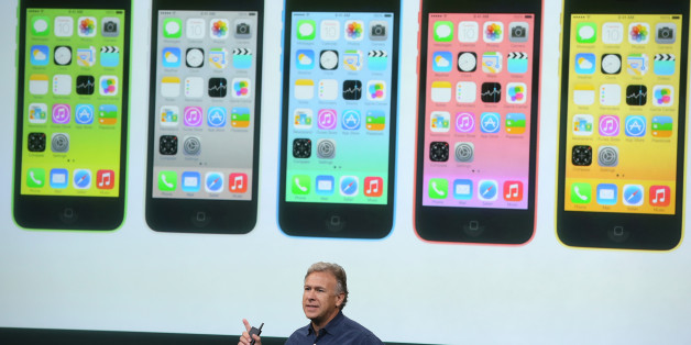 CUPERTINO, CA - SEPTEMBER 10:  Apple Senior Vice President of Worldwide Marketing at Phil Schiller speaks about the new iPhone 5C during an Apple product announcement at the Apple campus on September 10, 2013 in Cupertino, California. The company launched the new iPhone 5C model that will run iOS 7  is made from hard-coated polycarbonate and comes in various colors.  (Photo by Justin Sullivan/Getty Images)