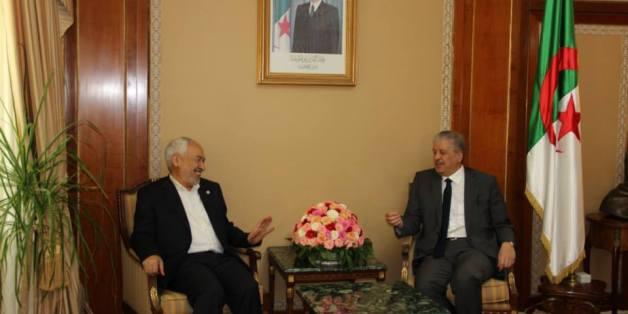 Rached Ghannouchi avec le Premier ministre algérien Abdelmalek Sellal