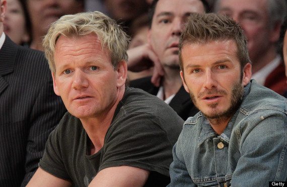 david beckham gordon ramsay