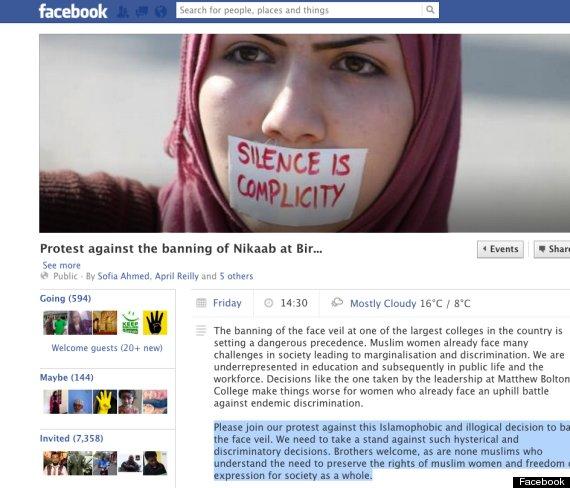 muslim veil ban college