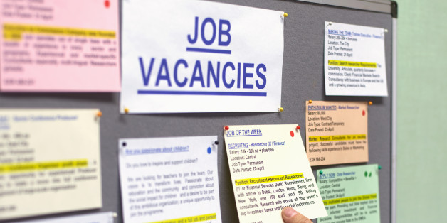 Senior man at job vacancies board