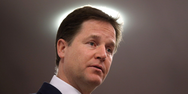 Deputy Prime Minister Nick Clegg makes a speech at the 'Centre Forum' in London today on delivering a strong economy and fair society.