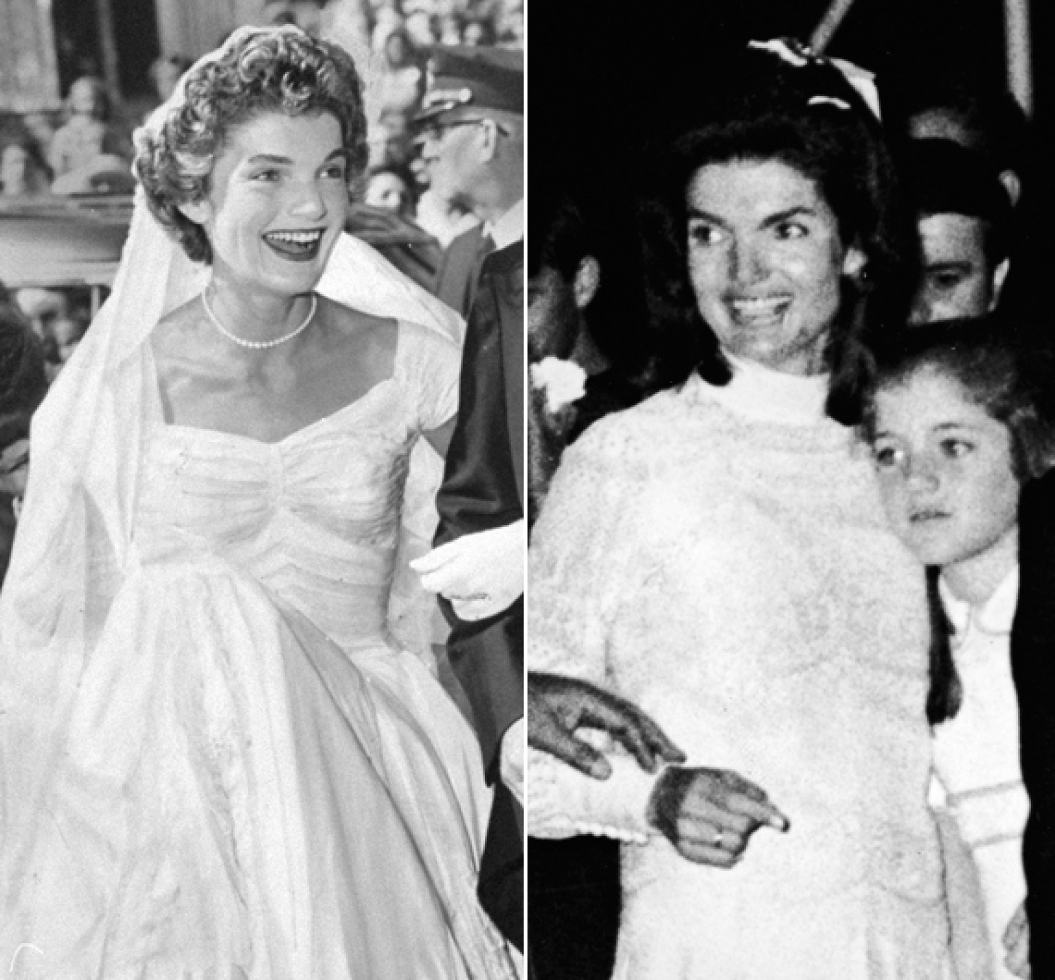 Jackie kennedys wedding dresses still make us swoon both of them jackie kennedys wedding dresses still make us swoon both of them huffpost junglespirit Image collections