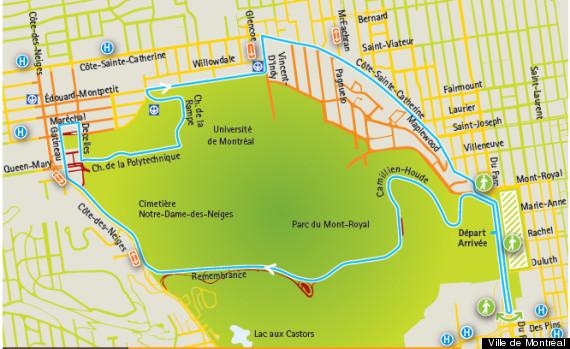 carte parcours grand prix cycliste montreal