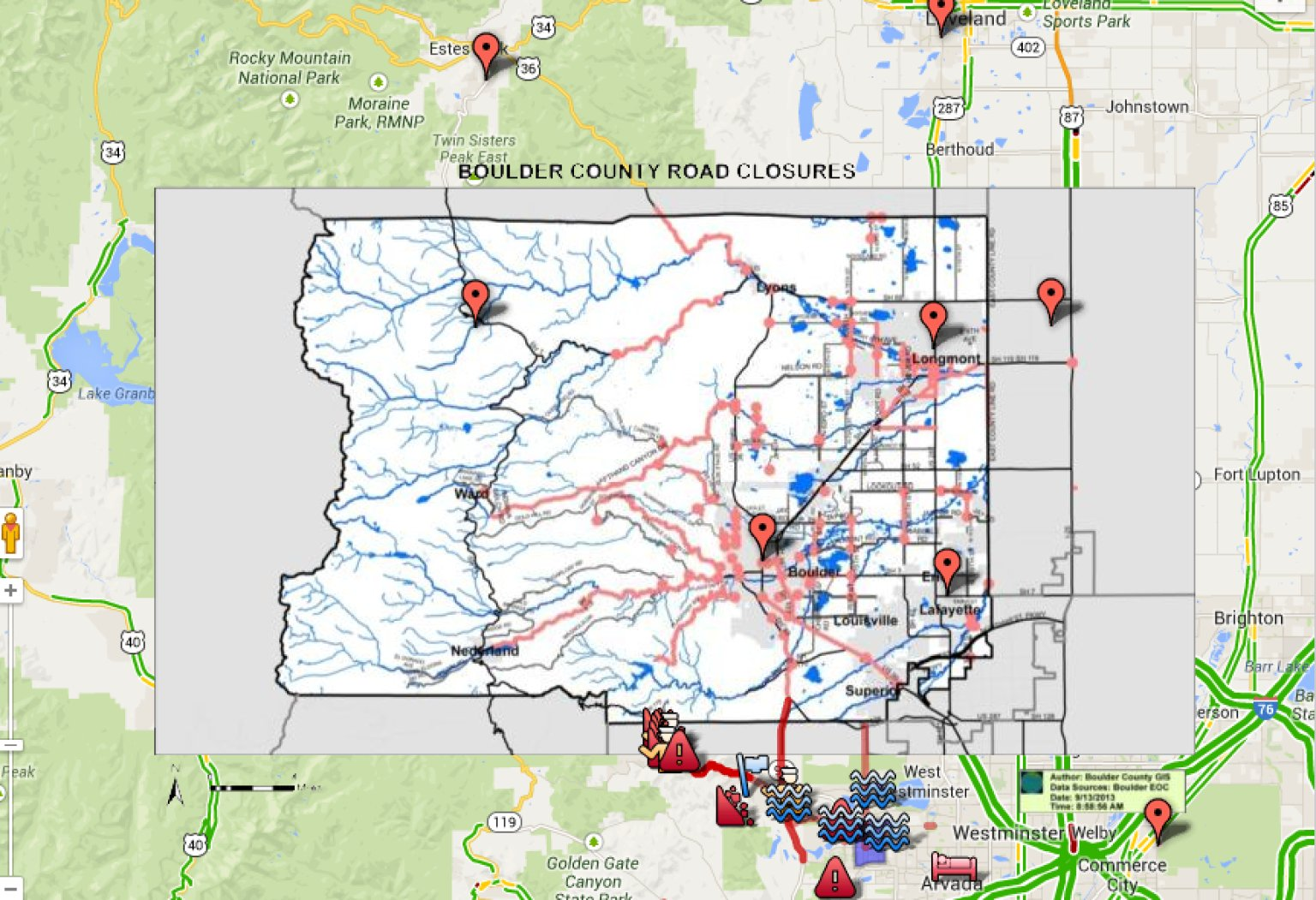 Com Continuous News Colorado >> Colorado Road Closure Map | Tjalk
