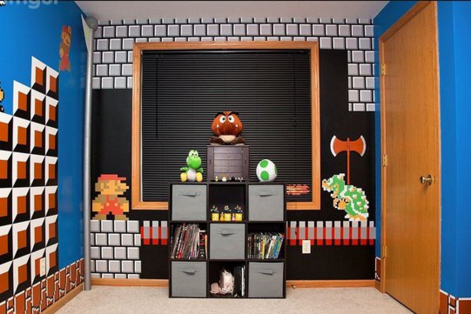 super mario bros.' bedroom is the coolest thing ever (photos