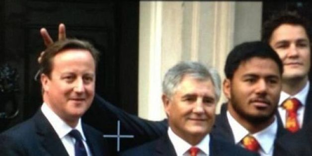 Manu Tuilagi has apologised for playing a prank on Prime Minister David Cameron