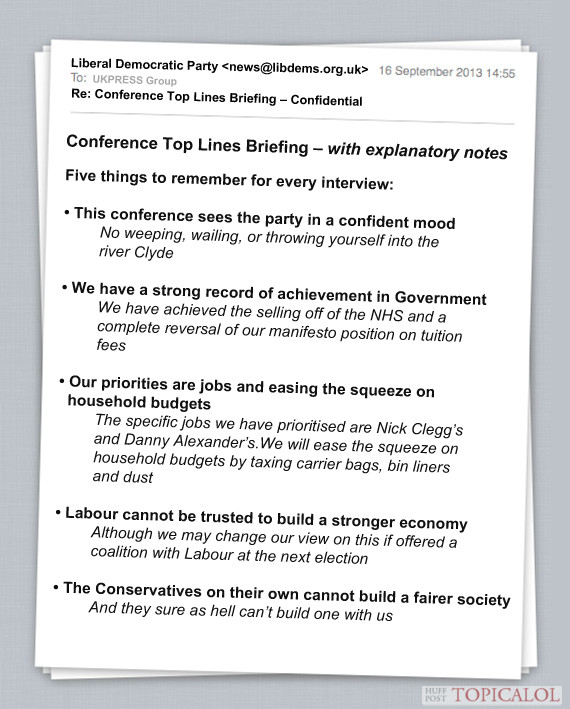 lib dem conference email spoof