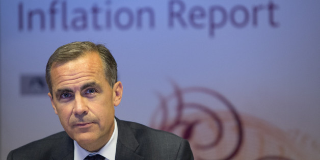 LONDON - AUGUST 7:  Mark Carney, governor of the Bank of England, speaks during the bank's quarterly inflation report news conference at the Bank of England on August 7, 2013 in London, England. The Bank of England for the first time linked the outlook for its benchmark interest rate to unemployment and inflation and will keep its current policy 'at least' until the jobless rate falls to 7 percent. (Photo by Simon Dawson/Bloomberg - Pool /Getty Images)