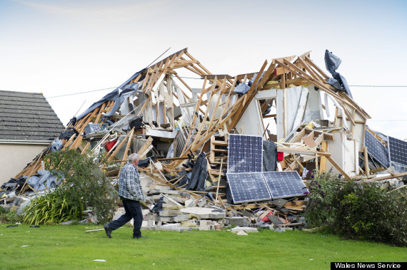 exploded house
