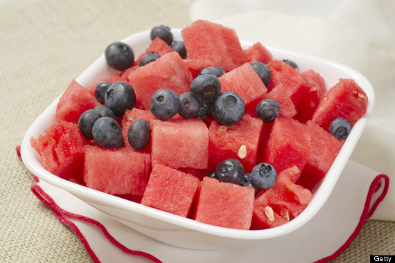 watermelon blueberries