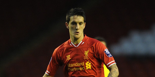 LIVERPOOL, ENGLAND - SEPTEMBER 17: Luis Alberto of Liverpool U21 in action during the Barclays U21s Premier League match between Liverpool U21 and Sunderland U21 at Anfield on September 17, 2013 in Liverpool, England. (Photo by Chris BrunskillGetty Images)