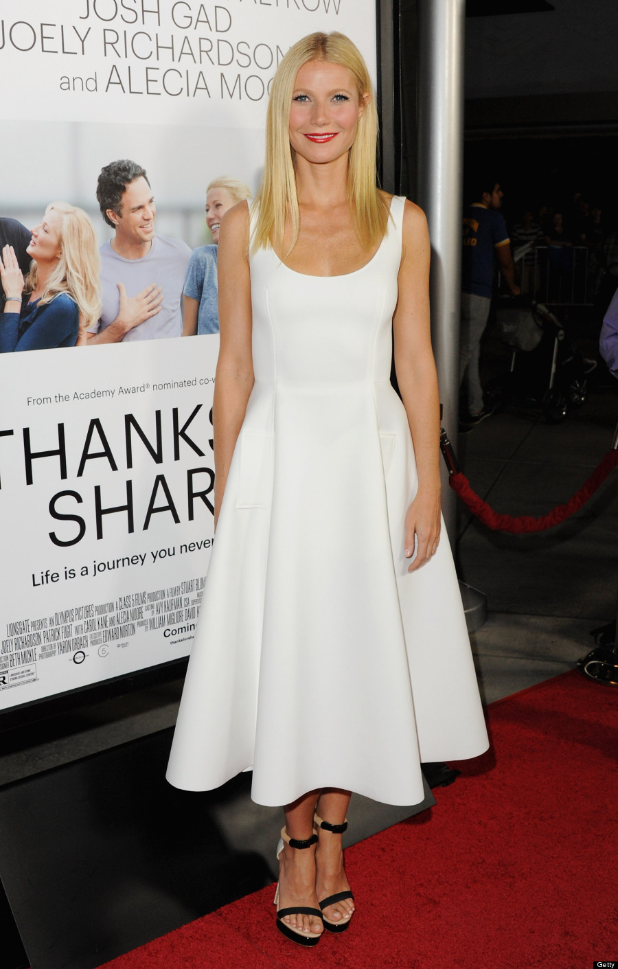 Gwyneth Paltrow Makes Tank Dress Glamorous At 'Thanks For ...