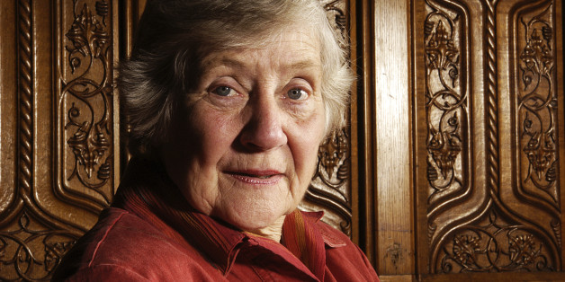 LONDON - JULY: The Right Honourable Shirley Williams, Baroness Williams of Crosby poses while in the Palace of Westminster, London during July 2004. (Photo by Cambridge Jones/Getty Images)