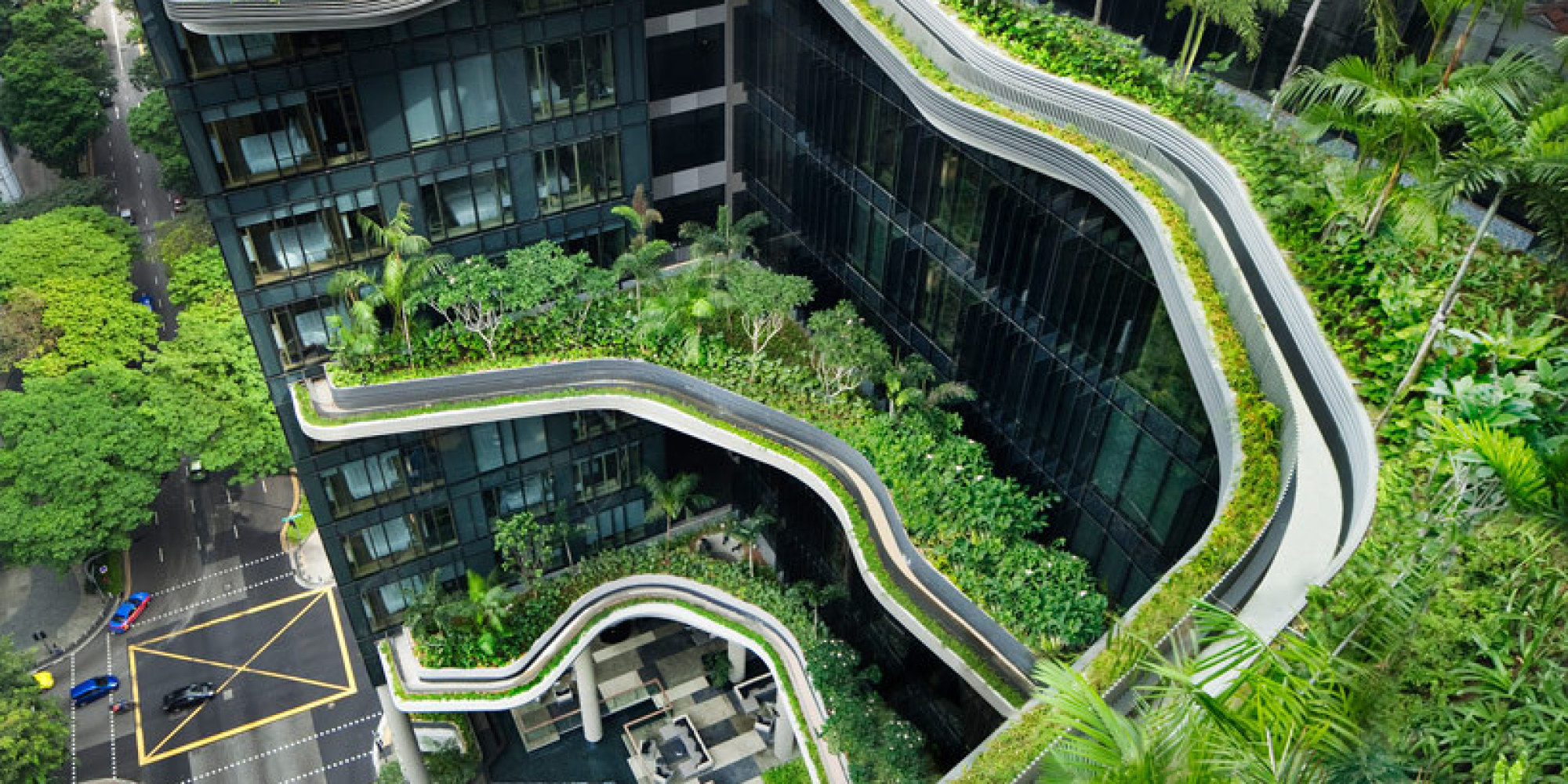 Singapore Hotel's Dizzying View Of Curved Garden Terraces Is Not One You  See Every Day (PHOTOS) | HuffPost