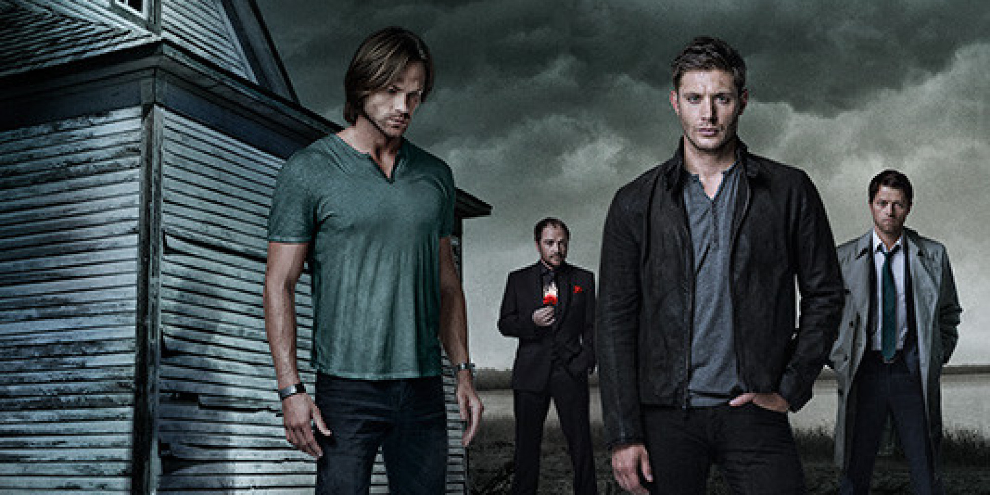 Supernatural season 9 poster sam dean castiel and crowley supernatural season 9 poster sam dean castiel and crowley prepare for the fall photo huffpost voltagebd Image collections