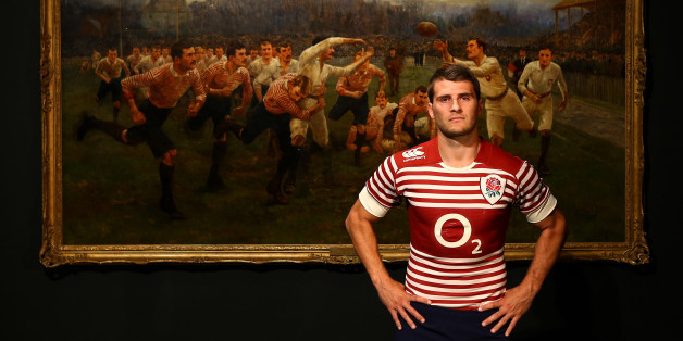 LONDON, ENGLAND - SEPTEMBER 23:   Richard Wigglesworth poses during the England Alternate Kit Launch at Twickenham Stadium on September 23, 2013 in London, England. The Alternate Kit is inspired by the iconic 'The Battle of the Roses: Yorkshire v Lancashire' painting, which depicts a match between the two counties in 1893.  (Photo by Jan Kruger/Getty Images for Canterbury)