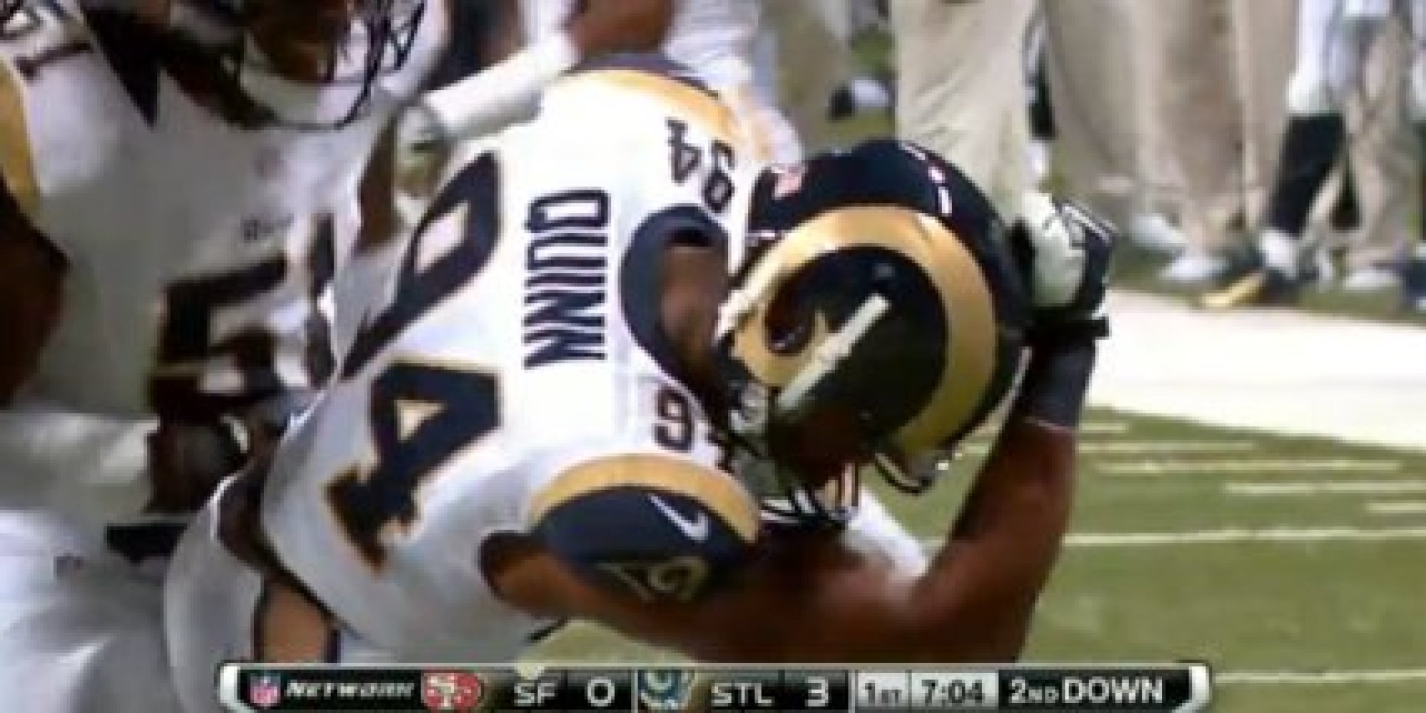 Robert Quinn Kaepernicking Ater Sacking Colin Kaepernick During