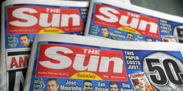 The first copies of the new Sun on Sunday newspaper roll off the presses at the News Printers, in Broxbourne Hertfordshire.