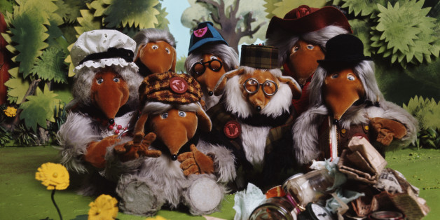 BBC children's television characters from Wimbledon Common, 'The Wombles', 1974. (Photo by Tony Evans/Getty Images)