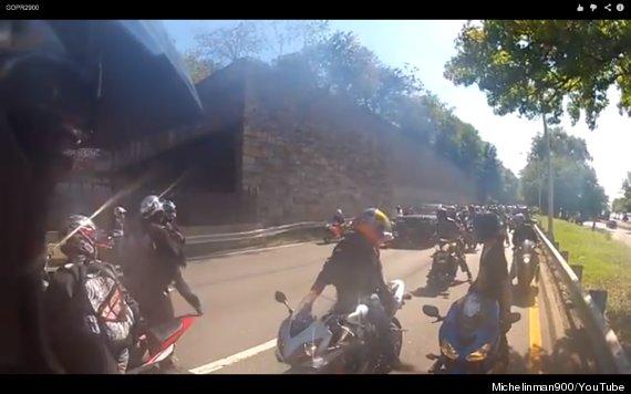 biker chase