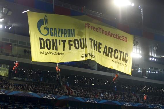 gazprom schalke greenpeace basel