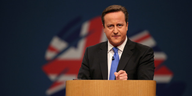 MANCHESTER, ENGLAND - OCTOBER 02:  British Prime Minister David Cameron delivers his keynote speech on the last day of the annual Conservative Party Conference at Manchester Central on October 2, 2013 in Manchester, England. During his closing speech David Cameron will say that his 'abiding mission' would make the UK into a 'land of opportunity'.  (Photo by Oli Scarff/Getty Images)