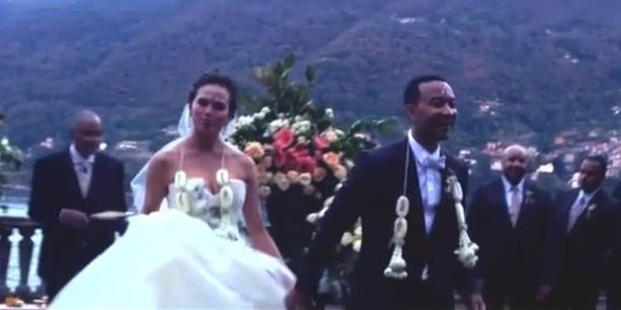 Chrissy Teigen John Legend Wedding Footage Ears At End Of New Music Video Huffpost