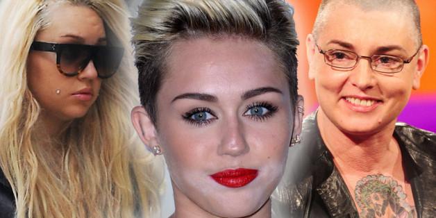 Amanda Bynes, Miley Cyrus and Sinead O'Connor