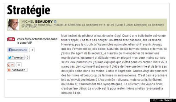 chronique michel beaudry